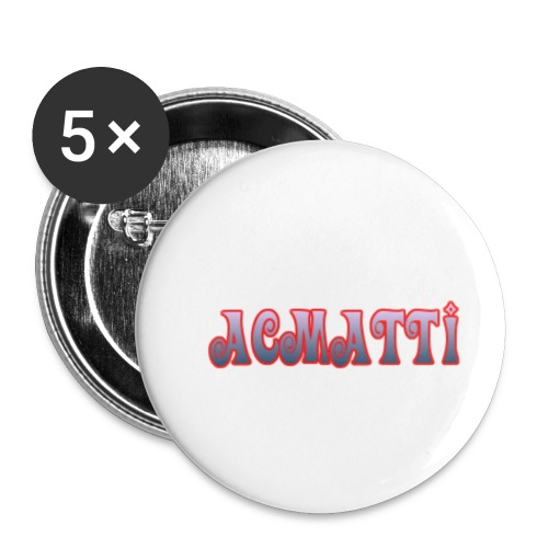 ACMATTI farverig - Buttons/Badges lille, 25 mm (5-pack)