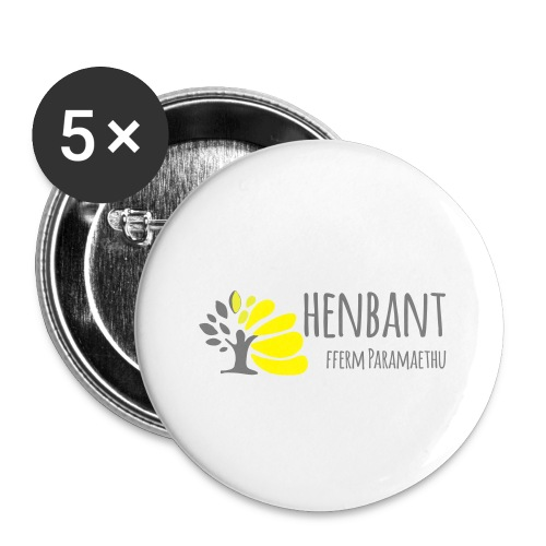 henbant logo - Buttons small 1''/25 mm (5-pack)