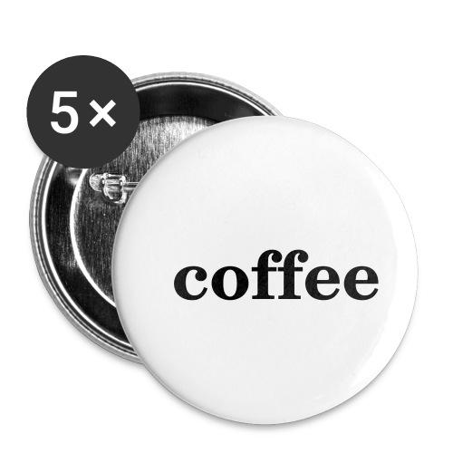 Kaffee - Buttons klein 25 mm (5er Pack)