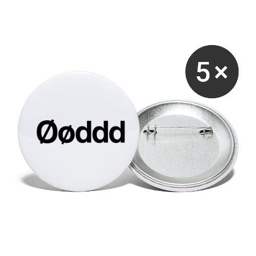 Øøddd (sort skrift) - Buttons/Badges lille, 25 mm (5-pack)