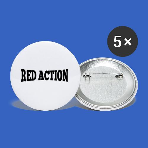 Red Action - Buttons klein 25 mm (5er Pack)