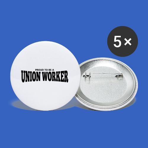 Union Worker - Buttons klein 25 mm (5er Pack)