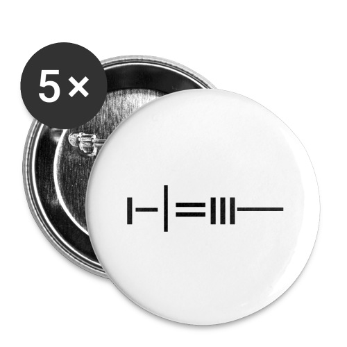 NEEDLE - Buttons small 1''/25 mm (5-pack)