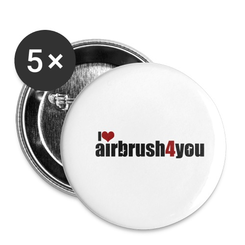 I Love airbrush4you - Buttons klein 25 mm (5er Pack)