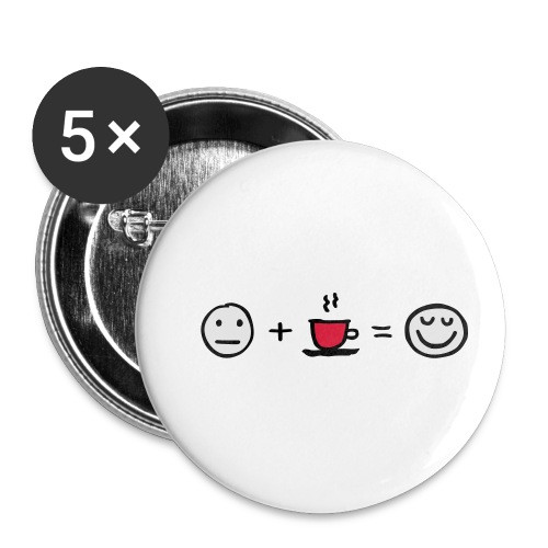 Coffee makes me happy - Buttons klein 25 mm (5er Pack)