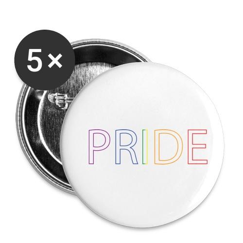 Pride - Lot de 5 petits badges (25 mm)