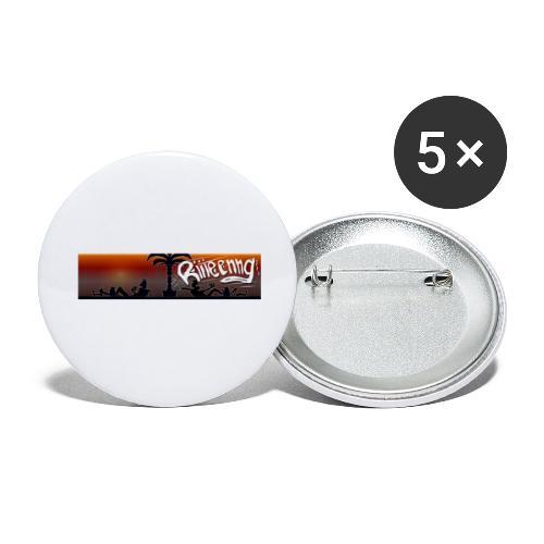 Knuud und Ksavver Comics Heisse Leine - Buttons klein 25 mm (5er Pack)