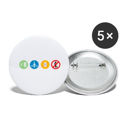 4kriteria ubi rechthoek trans - Buttons klein 25 mm (5-pack)