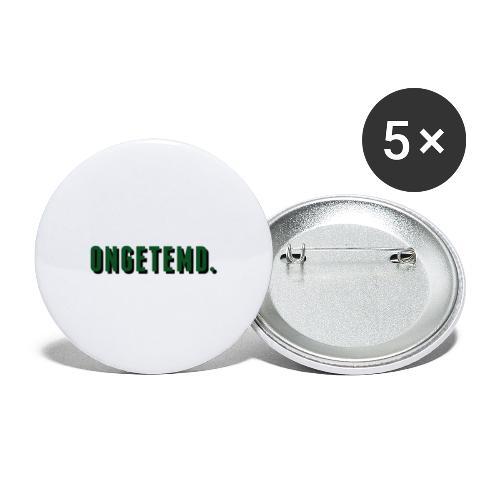 ONGETEMD. - Buttons klein 25 mm (5-pack)