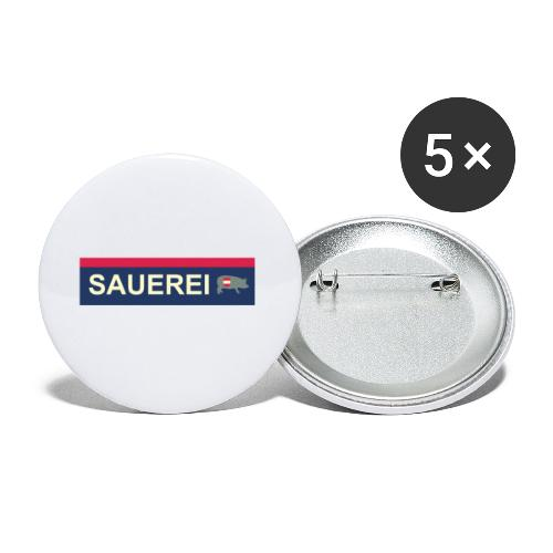 Sauerei Premium Bekleidung - Buttons klein 25 mm (5er Pack)