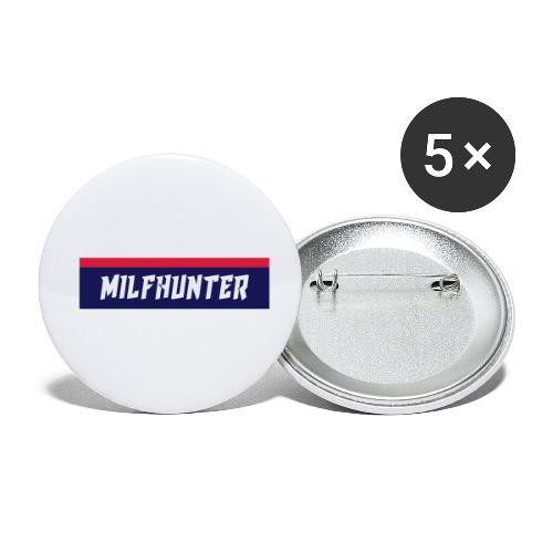 MILFHUNTER Premium Logo - Buttons klein 25 mm (5er Pack)