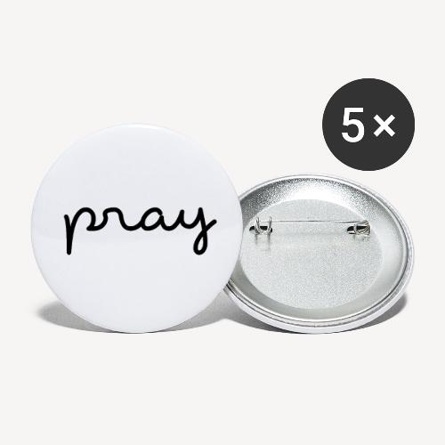 PRAY - Buttons small 1''/25 mm (5-pack)