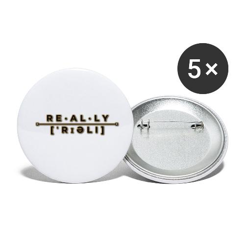 really slogan - Buttons klein 25 mm (5er Pack)