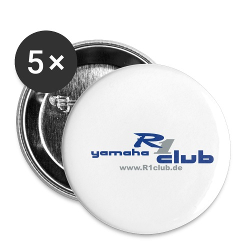 R1club Logo blau - Buttons klein 25 mm (5er Pack)