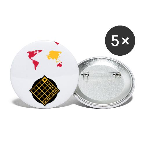 Tian Green mode Logo - Buttons klein 25 mm (5er Pack)