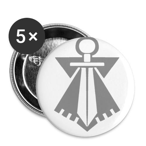 flb gris - Lot de 5 petits badges (25 mm)