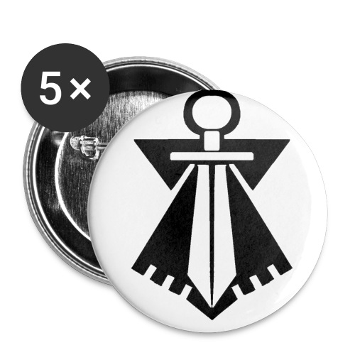 flb noir - Lot de 5 petits badges (25 mm)