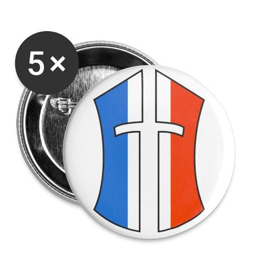Casque BoN France png - Lot de 5 petits badges (25 mm)