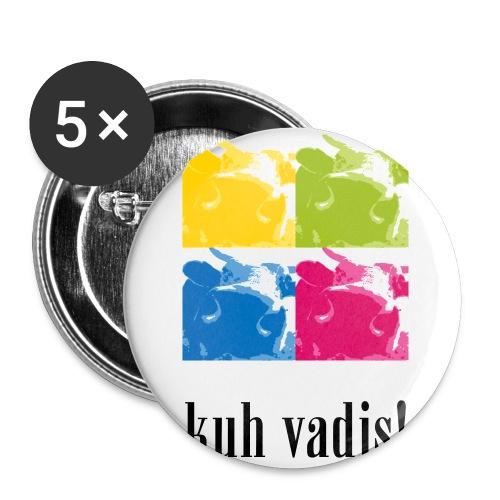 4 Kühe - Buttons klein 25 mm (5er Pack)