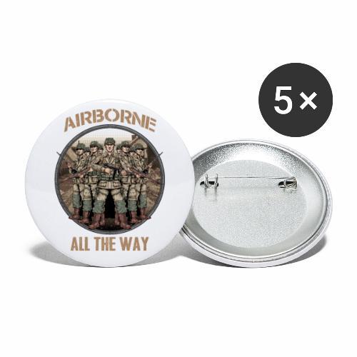 Airborne - Tout le chemin - Lot de 5 petits badges (25 mm)