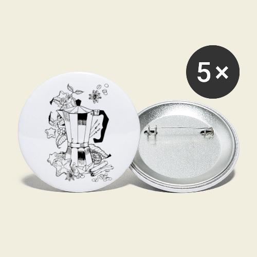 Coffeelove - Kaffeekanne - Buttons klein 25 mm (5er Pack)