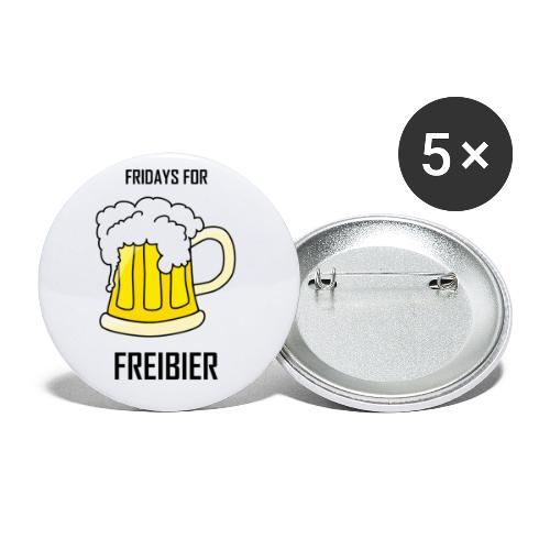 Fridays for Freibier - Buttons klein 25 mm (5er Pack)