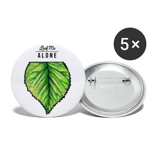 Leaf me Alone - Buttons klein 25 mm (5er Pack)