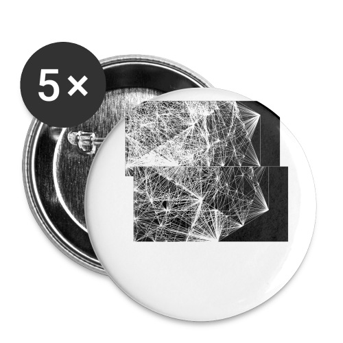 dodecahedron wire-frame - Buttons small 1''/25 mm (5-pack)