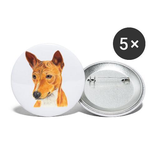 Basenji - Buttons/Badges lille, 25 mm (5-pack)
