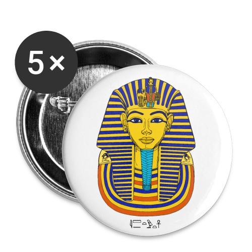 Pharao Tutanchamun - Buttons klein 25 mm