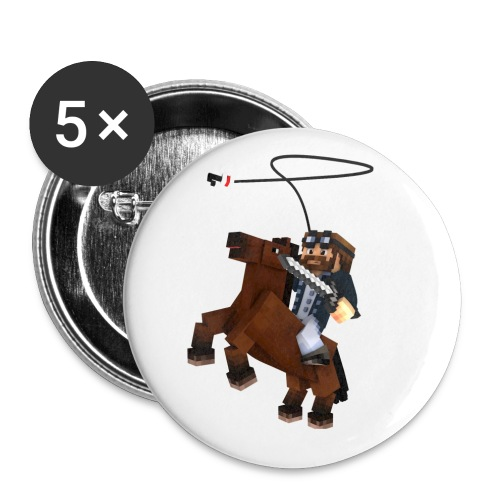 Titan y su rocinante café - Paquete de 5 chapas pequeñas (25 mm)