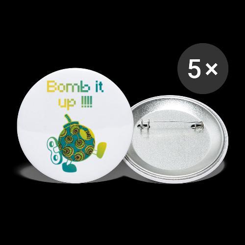Bomb It Up : Green Power !!! - Lot de 5 petits badges (25 mm)