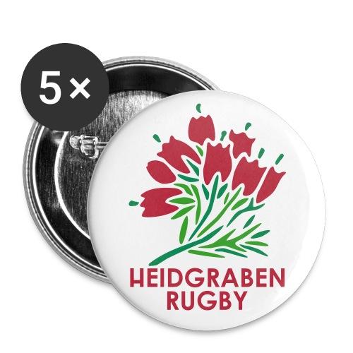 HR logo text - Buttons klein 25 mm (5er Pack)