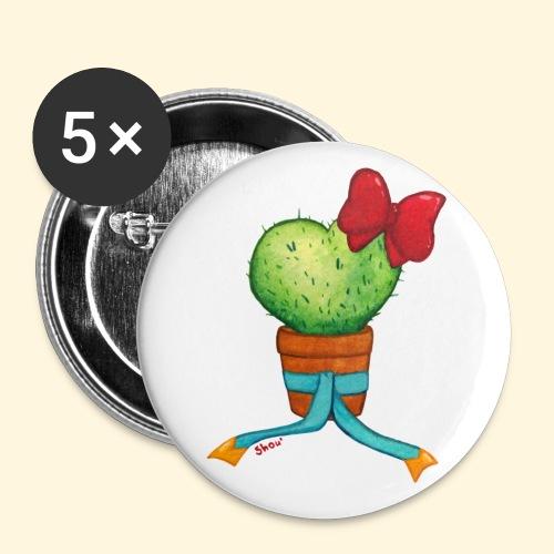 Cactus Coeur - Badge petit 25 mm