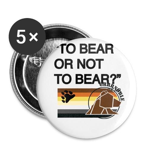 grrr_shakesbearTo bear or not to bear - Lot de 5 petits badges (25 mm)