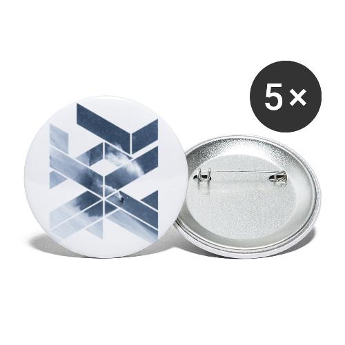 Grafic Art Snowboarding Wintersports - Buttons klein 25 mm (5er Pack)