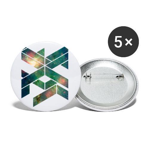 Galaxie Geometische Form - Buttons klein 25 mm (5er Pack)