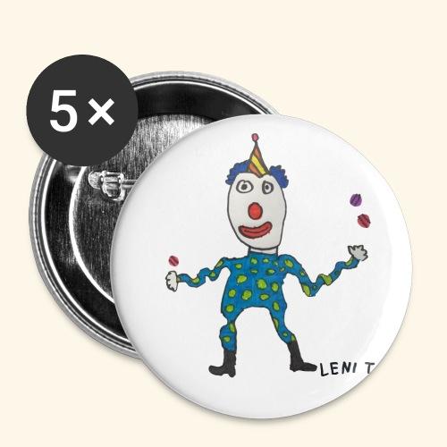 LeniT Clown - Rintamerkit pienet 25 mm (5kpl pakkauksessa)