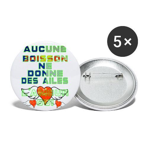 Aucune Boisson Ne Donne Des Ailes - Lot de 5 petits badges (25 mm)