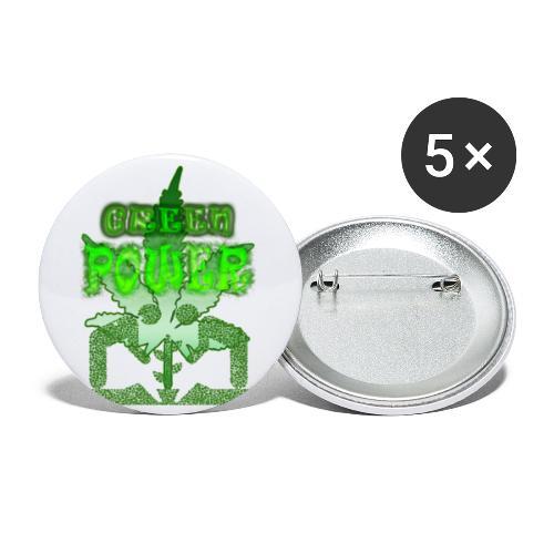 Green Power - Lot de 5 petits badges (25 mm)