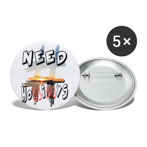 H-Tag Need Hollidays - Lot de 5 petits badges (25 mm)