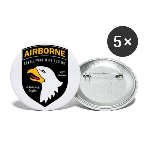 Airborne 101st - Lot de 5 petits badges (25 mm)