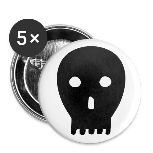 skull, totenkopf - Buttons klein 25 mm (5er Pack)