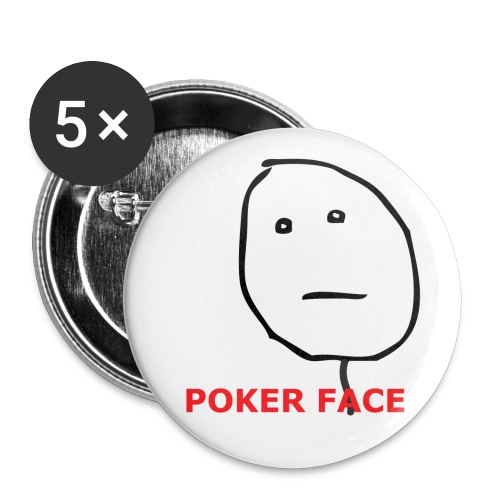 neutral poker face l png - Buttons klein 25 mm (5-pack)