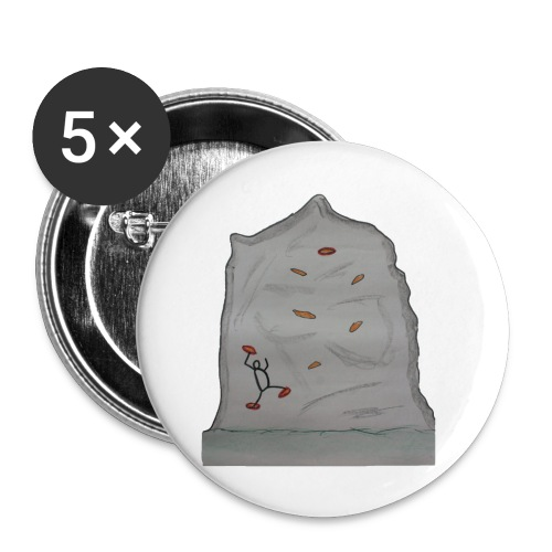 Boulder Felsen - Buttons klein 25 mm (5er Pack)