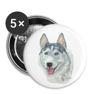 siberian husky_blueeyes - Buttons/Badges lille, 25 mm