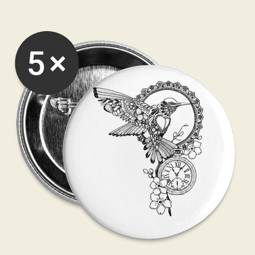 Kolibri-Uhr - Buttons klein 25 mm