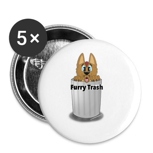 Furry Trash - Buttons/Badges lille, 25 mm (5-pack)