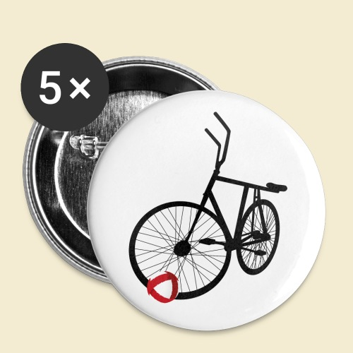 Radball | Black - Buttons klein 25 mm