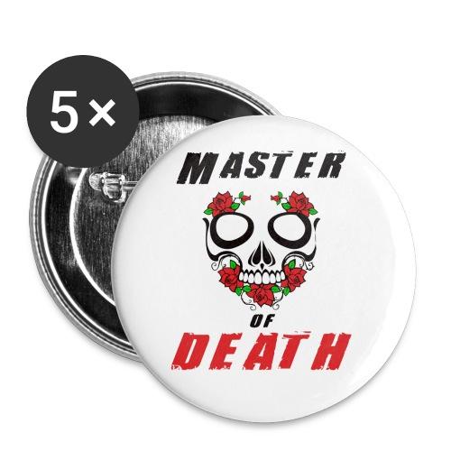 Master of death - black - Przypinka mała 25 mm (pakiet 5 szt.)